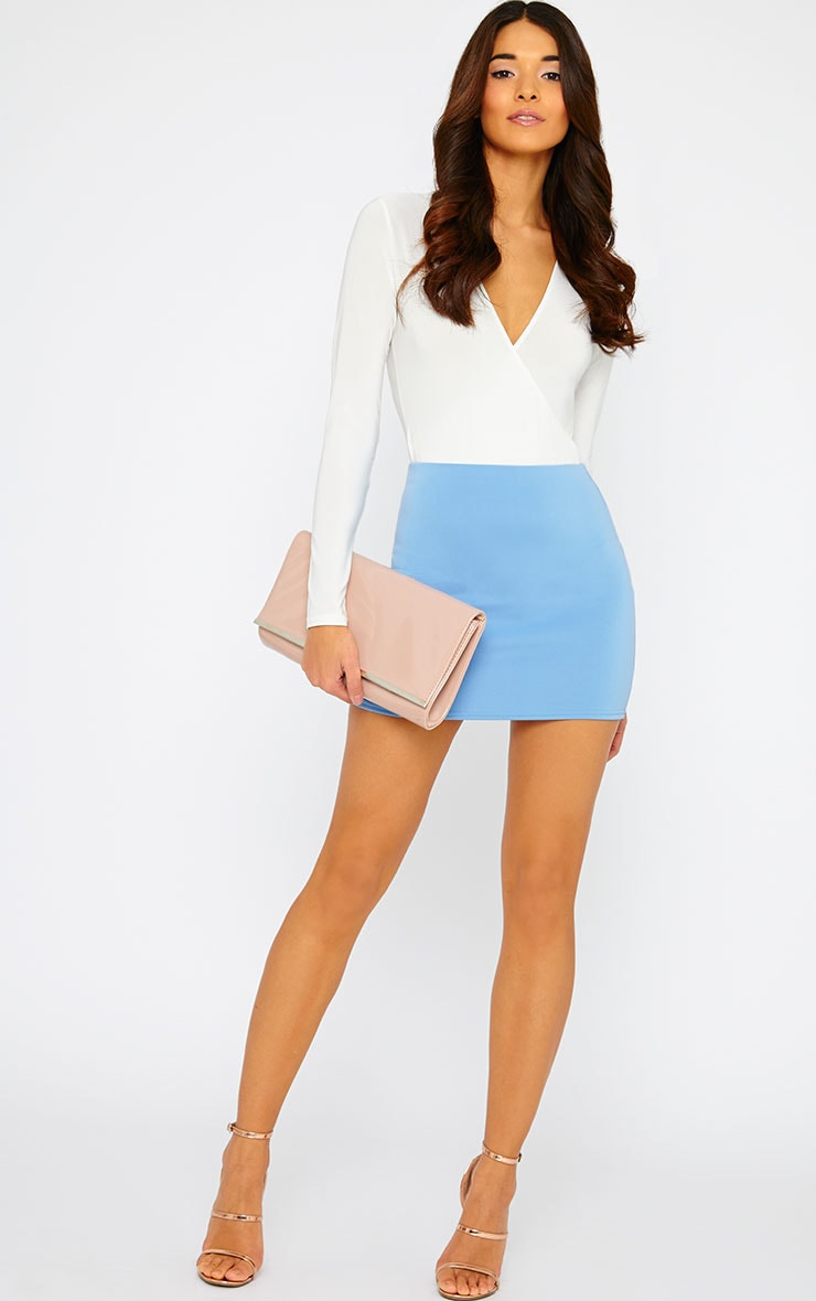 Basic Blue Scuba Mini Skirt 6