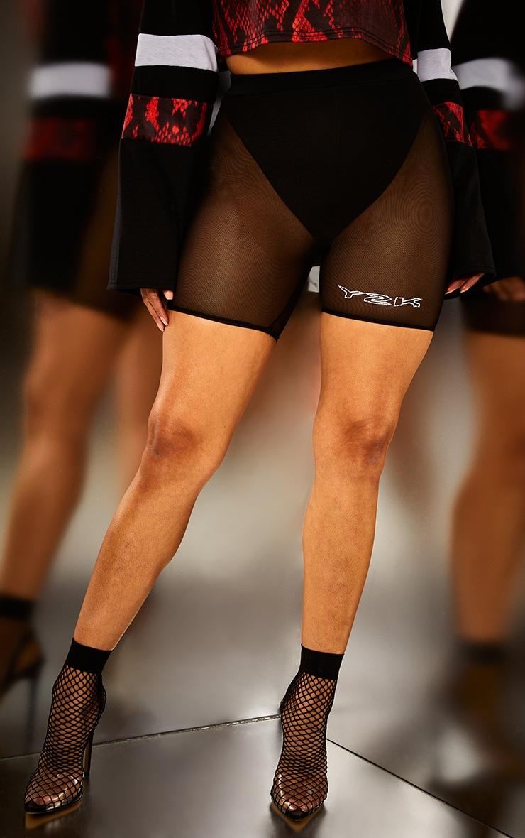 Black Mesh Y2K Bike Shorts 3