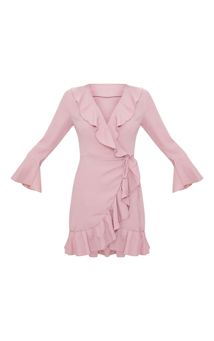 Ilisha Dusty Pink Frill Tea Dress 3