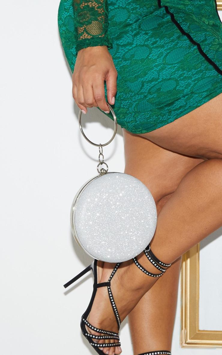 Silver Glitter Circle Grab Bag