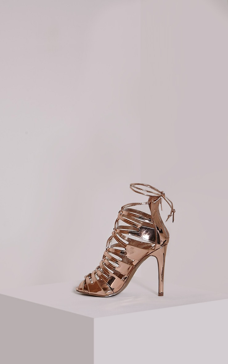 Lizeth Rose Cut Out Heeled Sandals 4