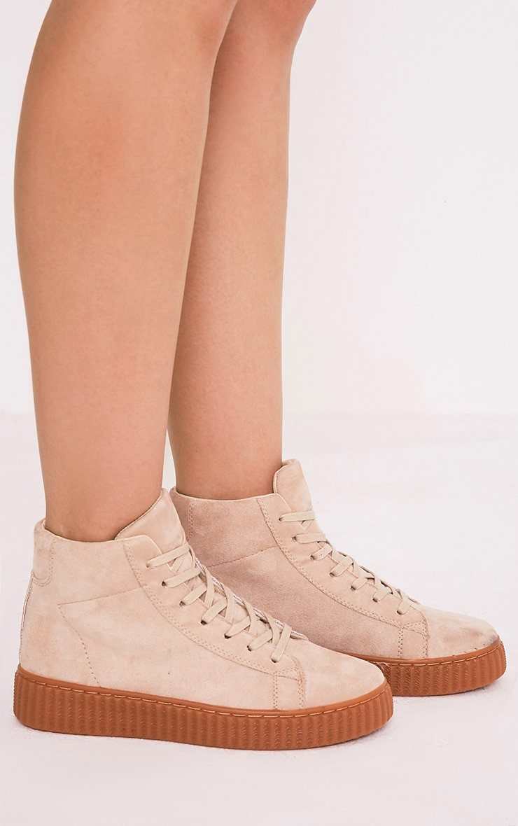 Jeanna creepers montantes gris pierre 2