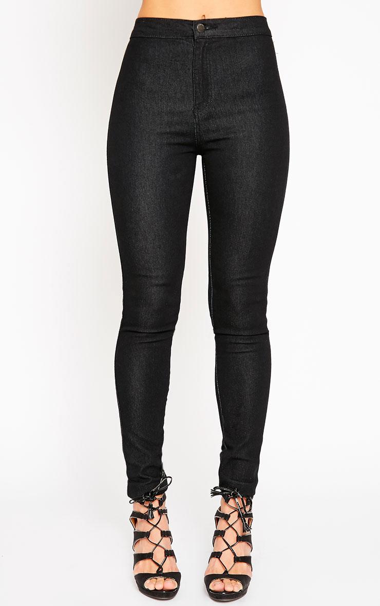 Este Black 2 Pocket High Waisted Jean 2