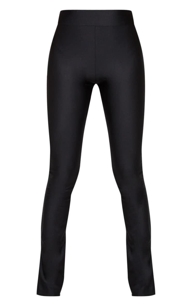 Petite Black Zip Hem Disco Leggings 5