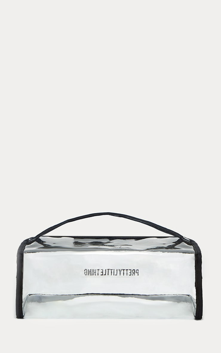 PRETTYLITTLETHING Large Transparent Cosmetic Bag 2