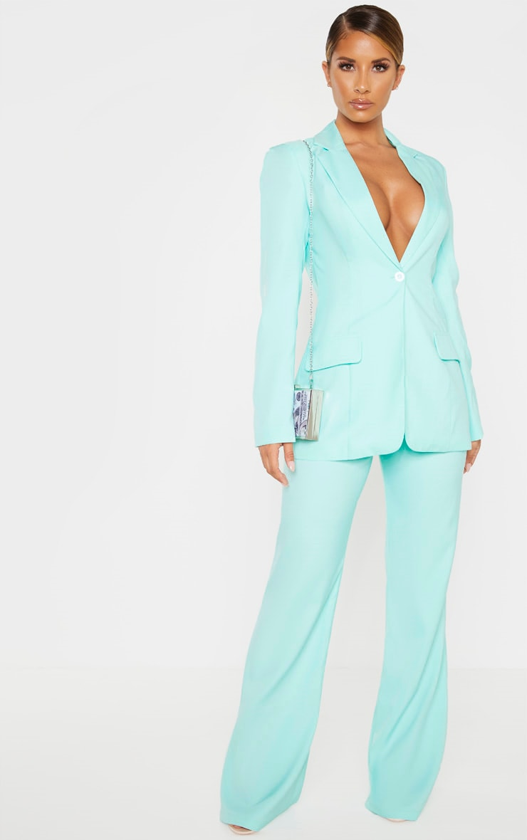 Aqua Structured Suit Woven Blazer 4