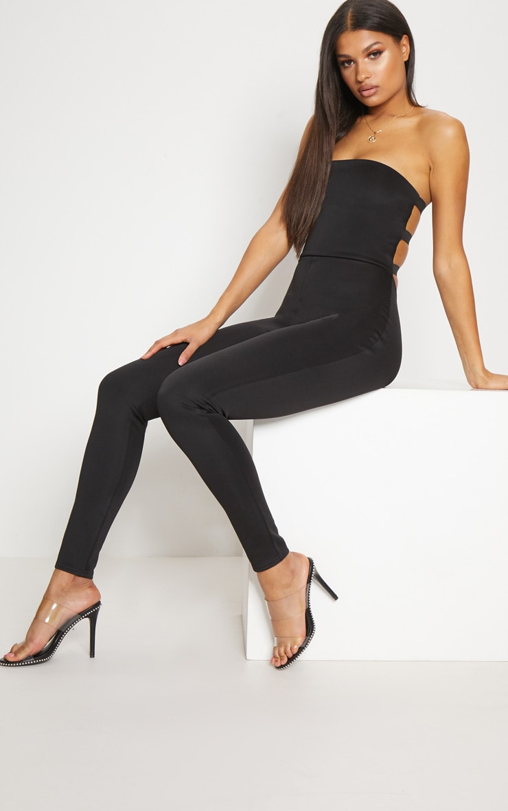 Black Buckle Back Detail Jumpsuit 4