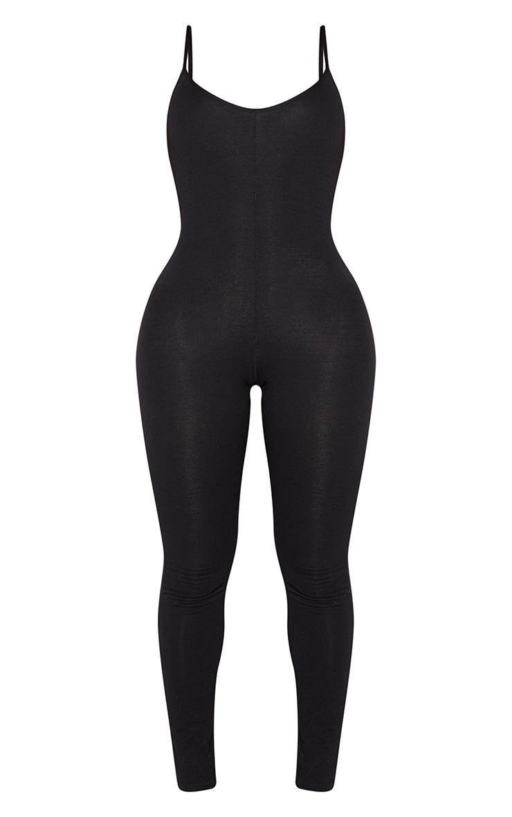 Shape Black Cotton Strappy Jumpsuit 3
