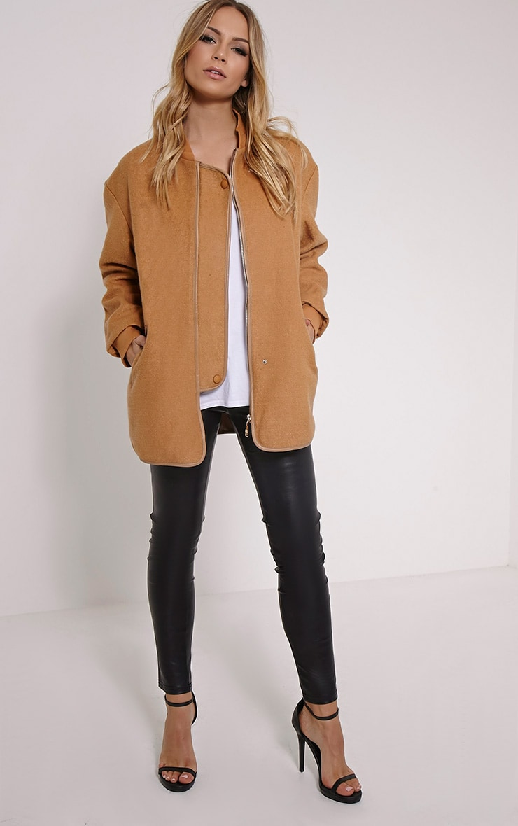 Alley Camel Longline Wool Bomber Jacket 3