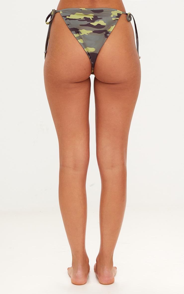 Camo Tie Side Bikini Bottom 3