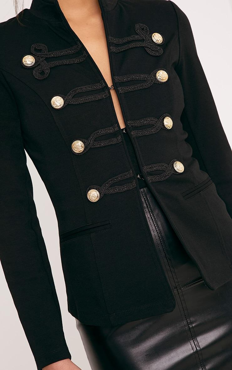 Karaa Black Cropped Military Detail Jacket 5