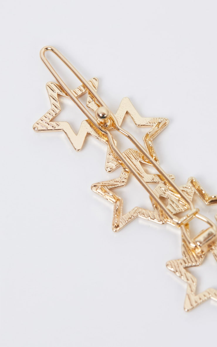 Gold Stars Hair Slide 4