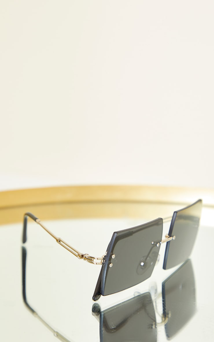 Black Frameless Squareframe Sunglasses 2