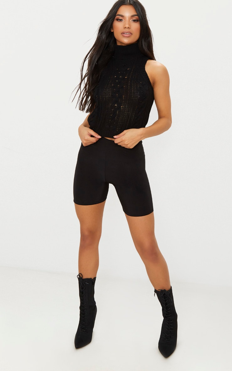 Black Cable Knit Sleeveless Jumper 4