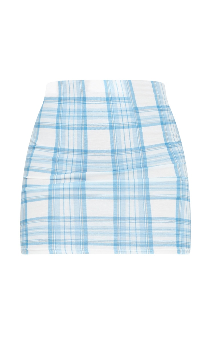 Baby Blue Check Mini Skirt 6