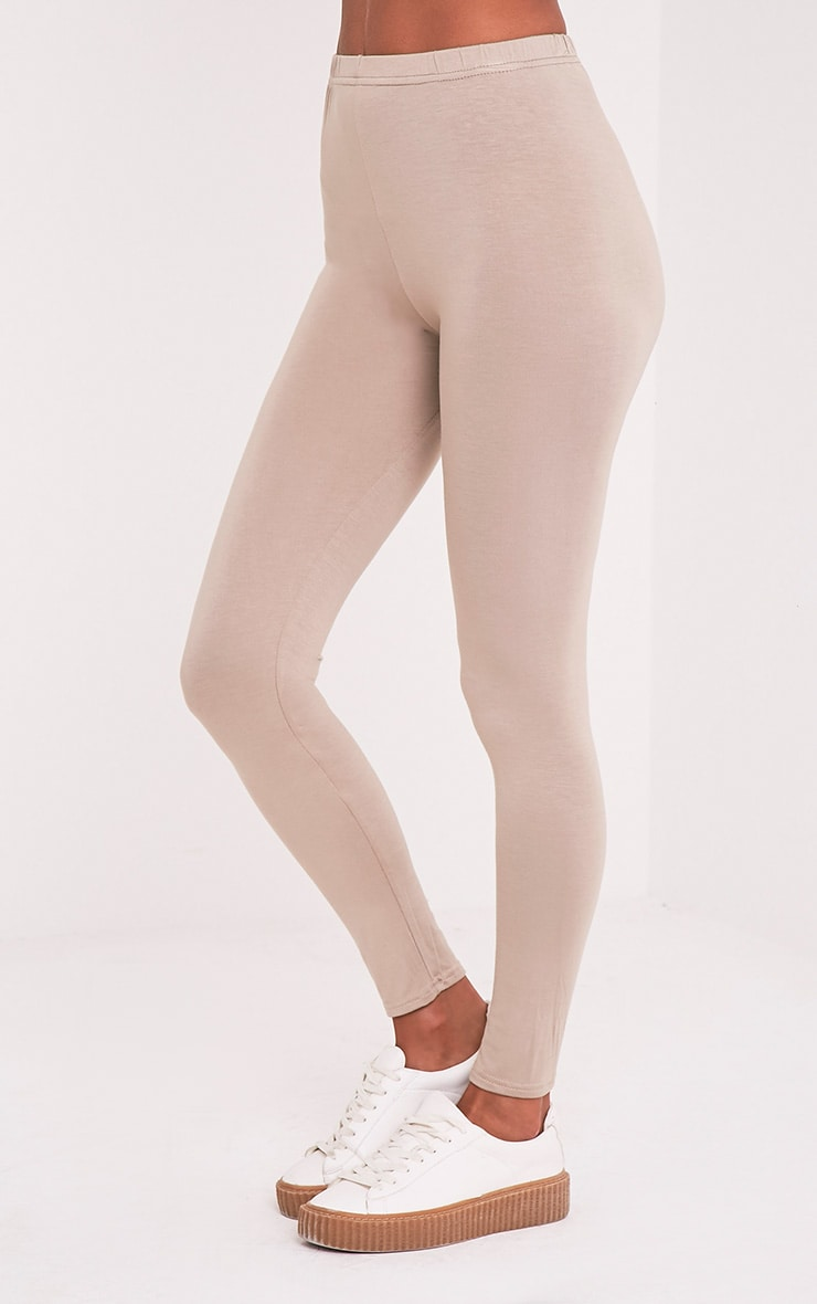Basic Taupe Jersey Leggings 4