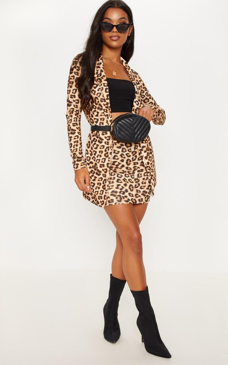 Brown Leopard Blazer  4