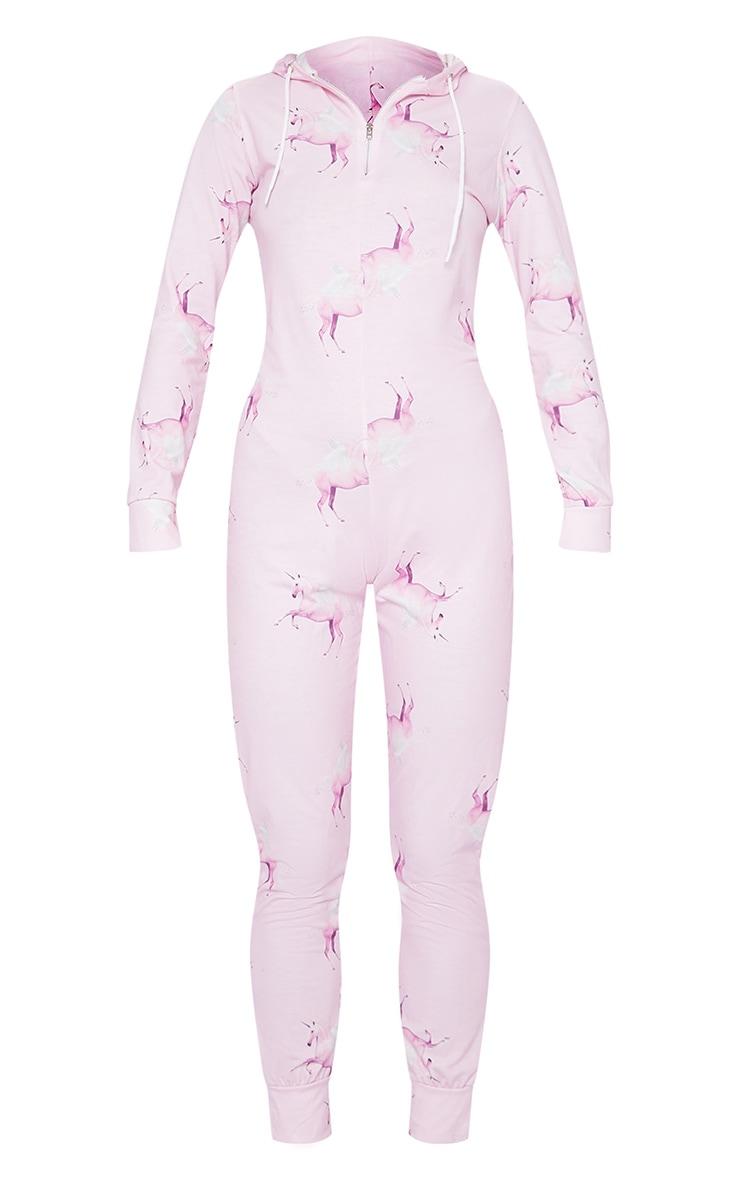 PRETTYLITTLETHING Unicorn Pink Print Onesie 3