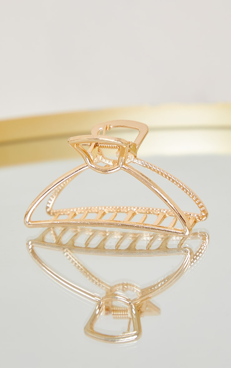 Clear With Gold Chain Hair Clip 3