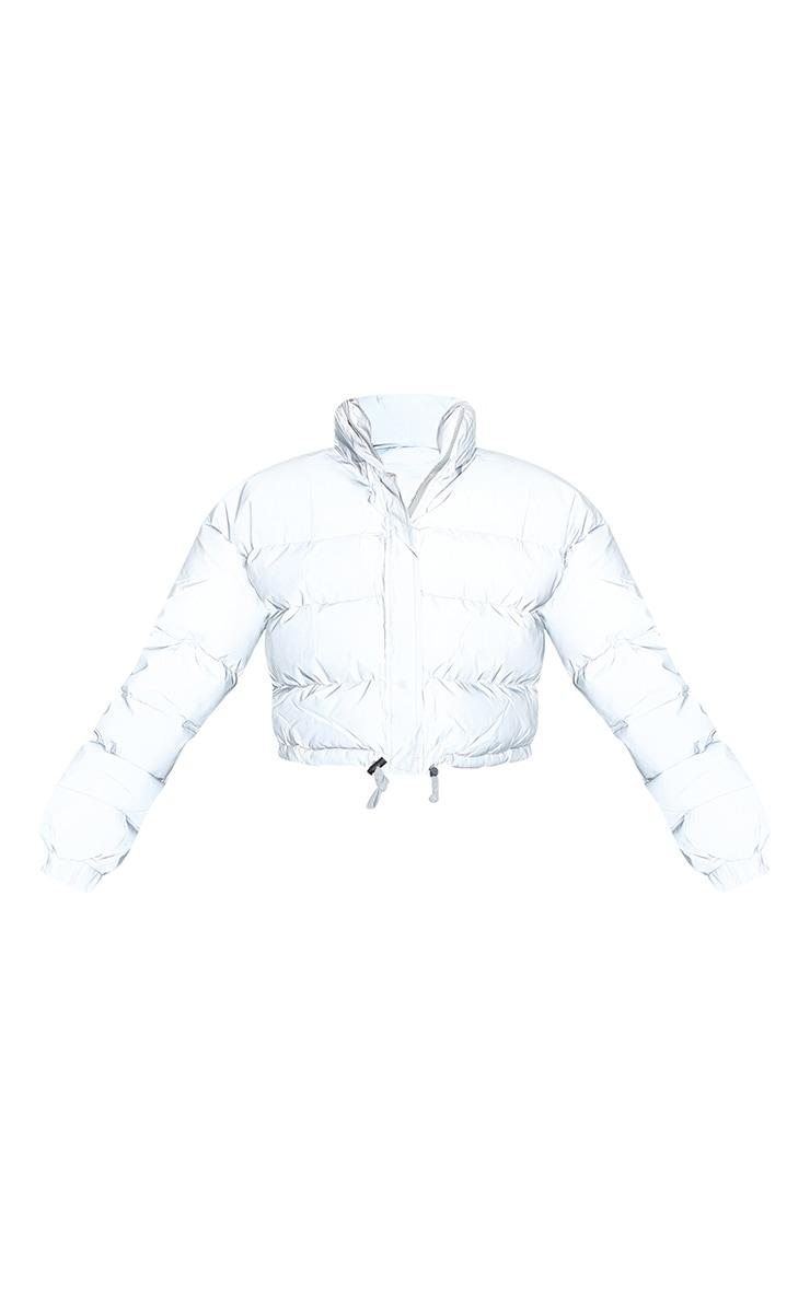 Grey Reflective Puffer Jacket 5