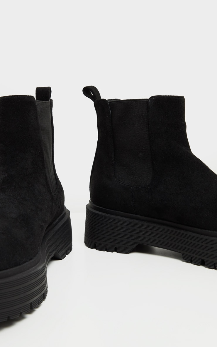 Black Double Sole Chunky Chelsea Ankle Boot 5