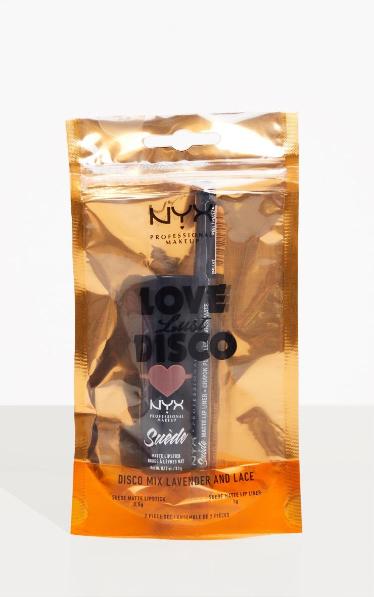 NYX Professional Makeup Disco Mix Lip Kits - Lavender & Lace Dusty Purple Matte Lip Christmas Gift Set 3