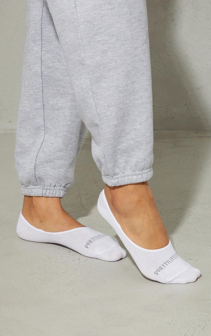 PRETTYLITTLETHING White 3 Pack Invisable Socks 3