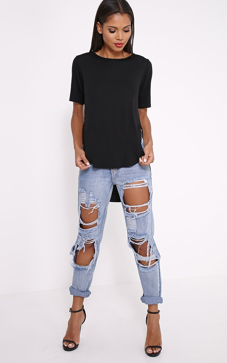Ashby Black Strap Back Jersey T-Shirt 3