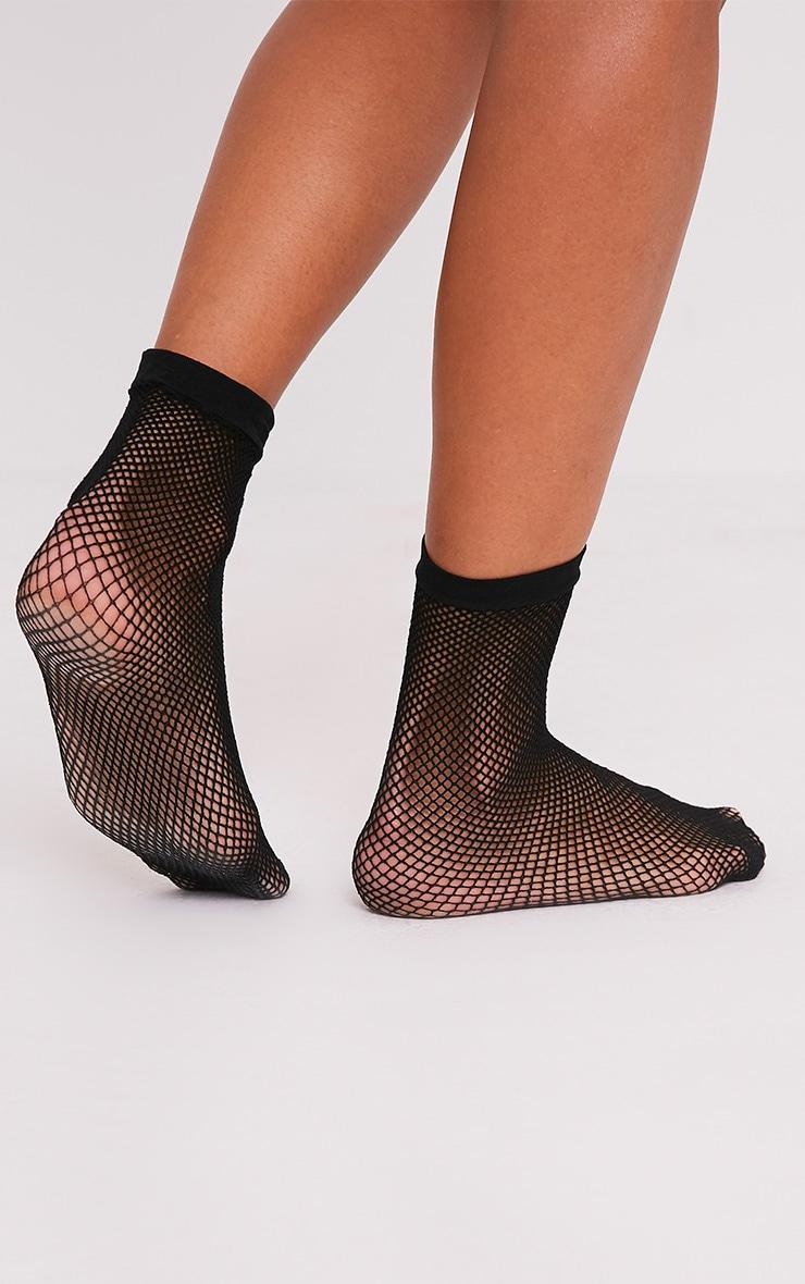 Black Fishnet Ankle Socks 3