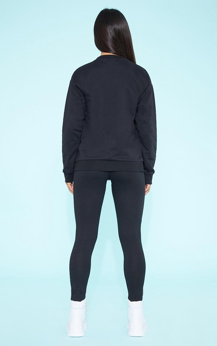 RECYCLED Black Crew Neck Sweater 5
