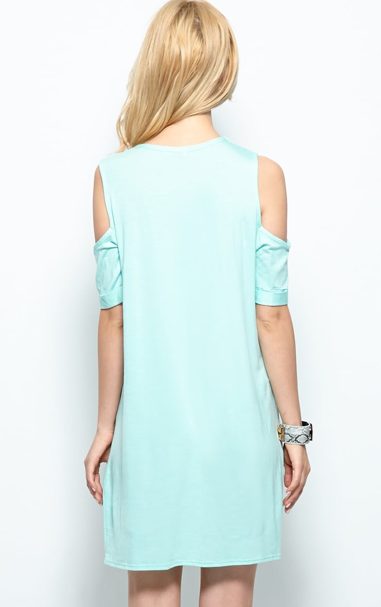 Mahlee Mint Cut Out Shoulder Top 2