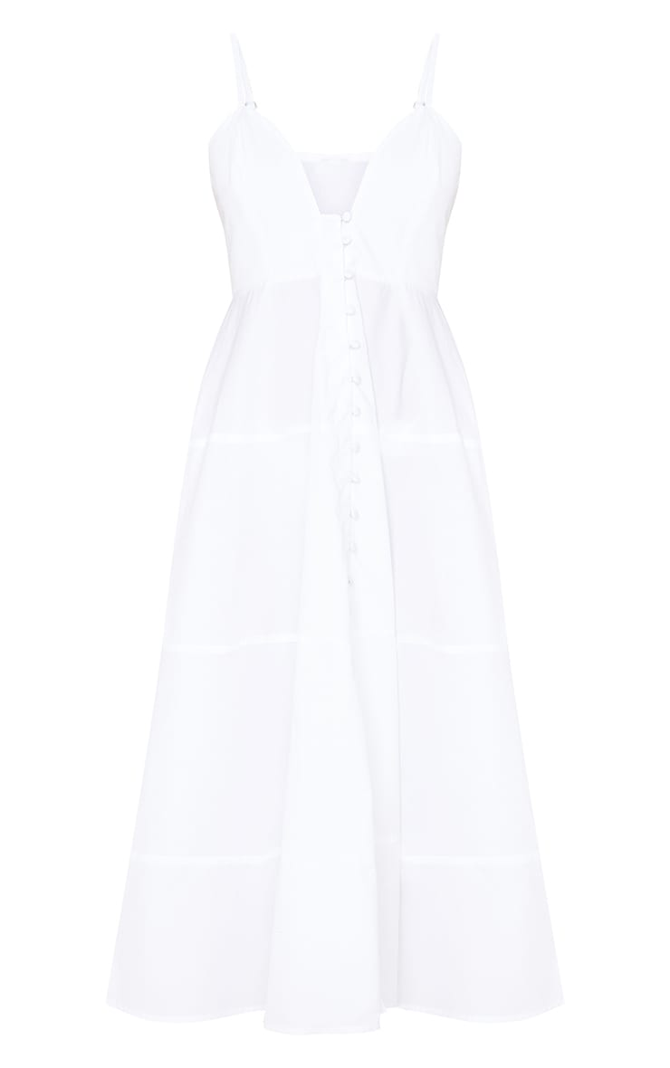 White Satin Ruched Button Waist Blouse 5