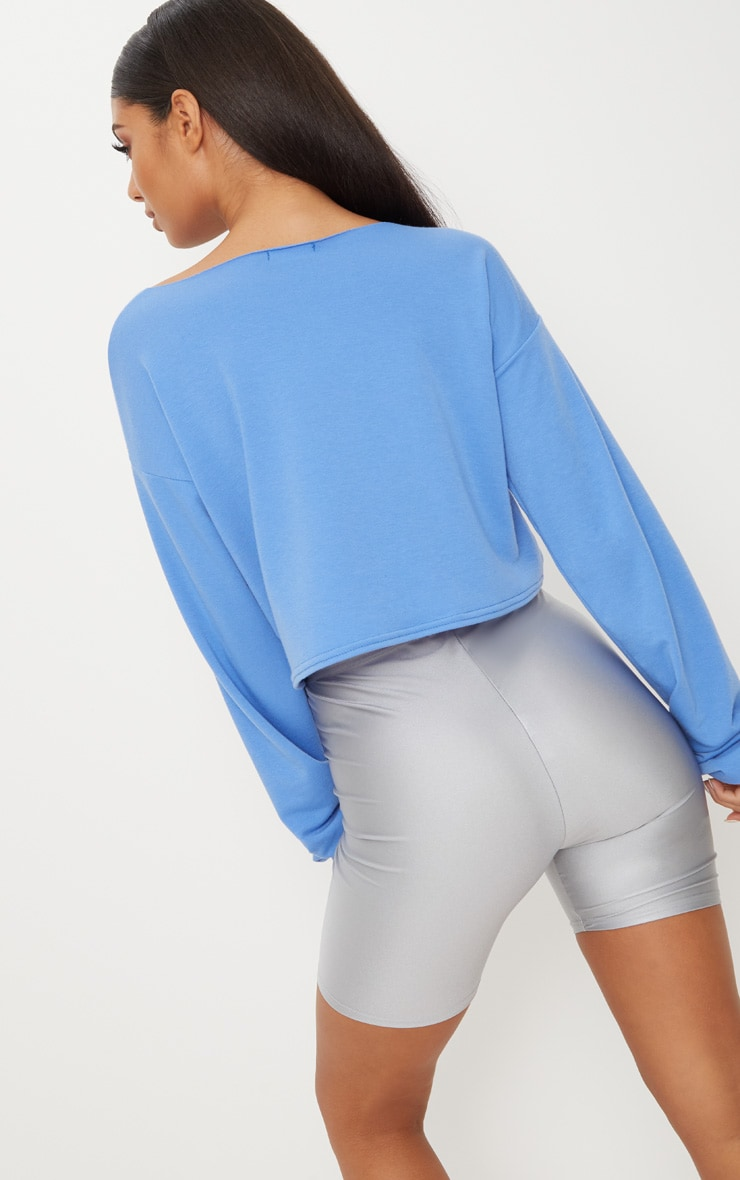 Powder Blue Zip Front Sweater 2