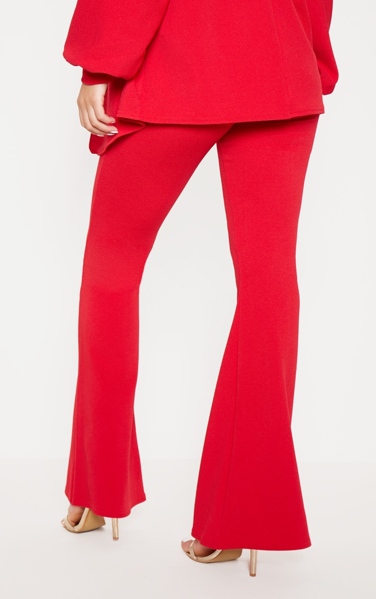 Red Flared Trouser  4