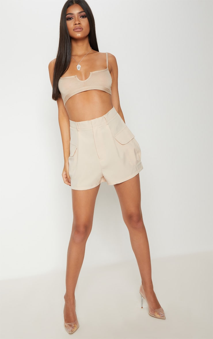 Basic Nude Jersey Cut Out Bralet 4