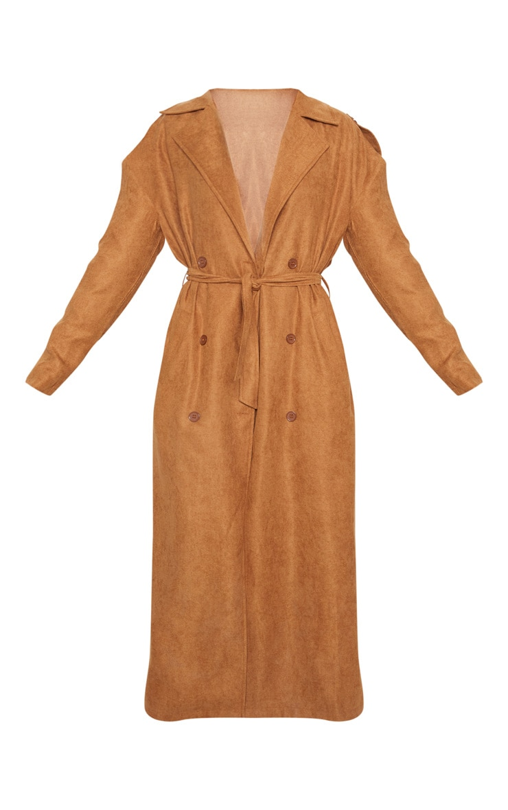 Tan Cord Belted Trench 3