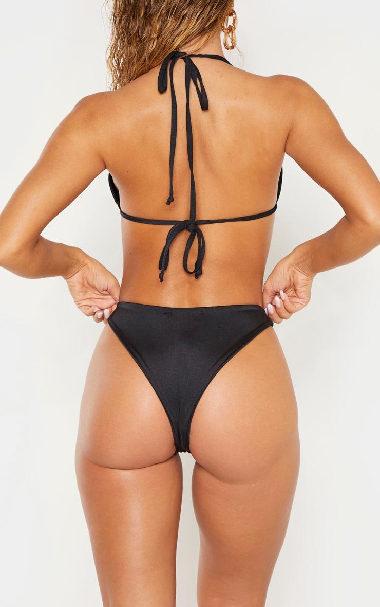 Black Mix & Match Super High Leg Brazilian Bikini Bottom 3