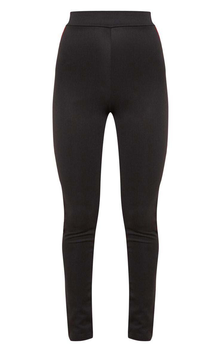 Legging noir à rayures sporty 3