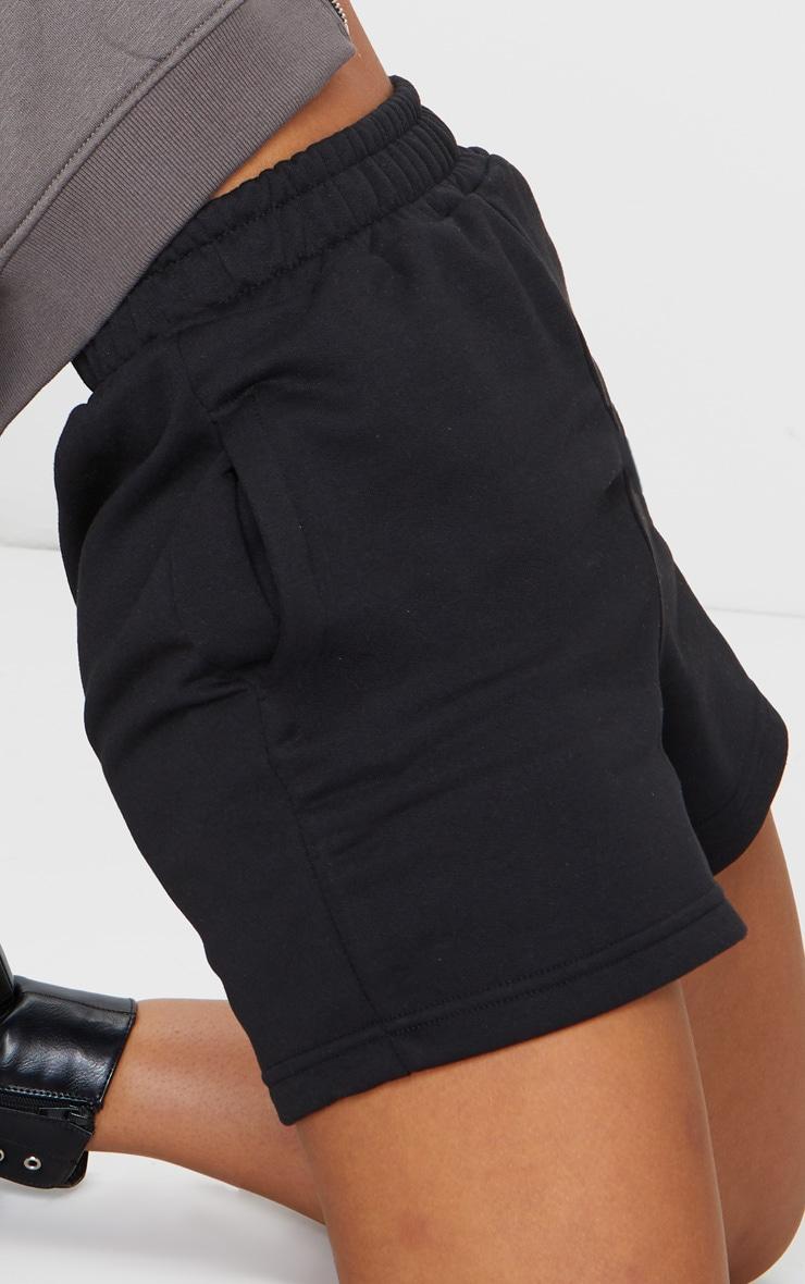 Black Sweat Pocket Shorts 5