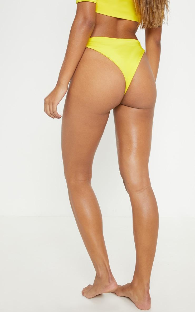 Yellow Knot Front Bikini Bottom 4