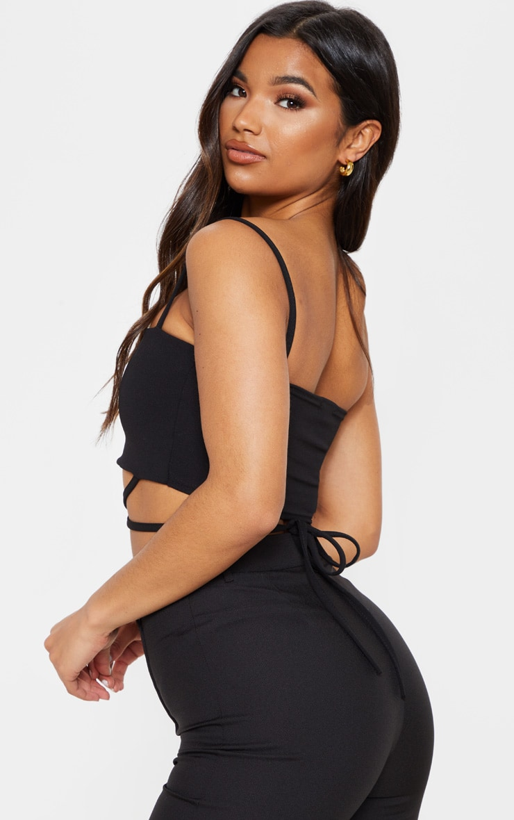 Black Strap Crop Top 2
