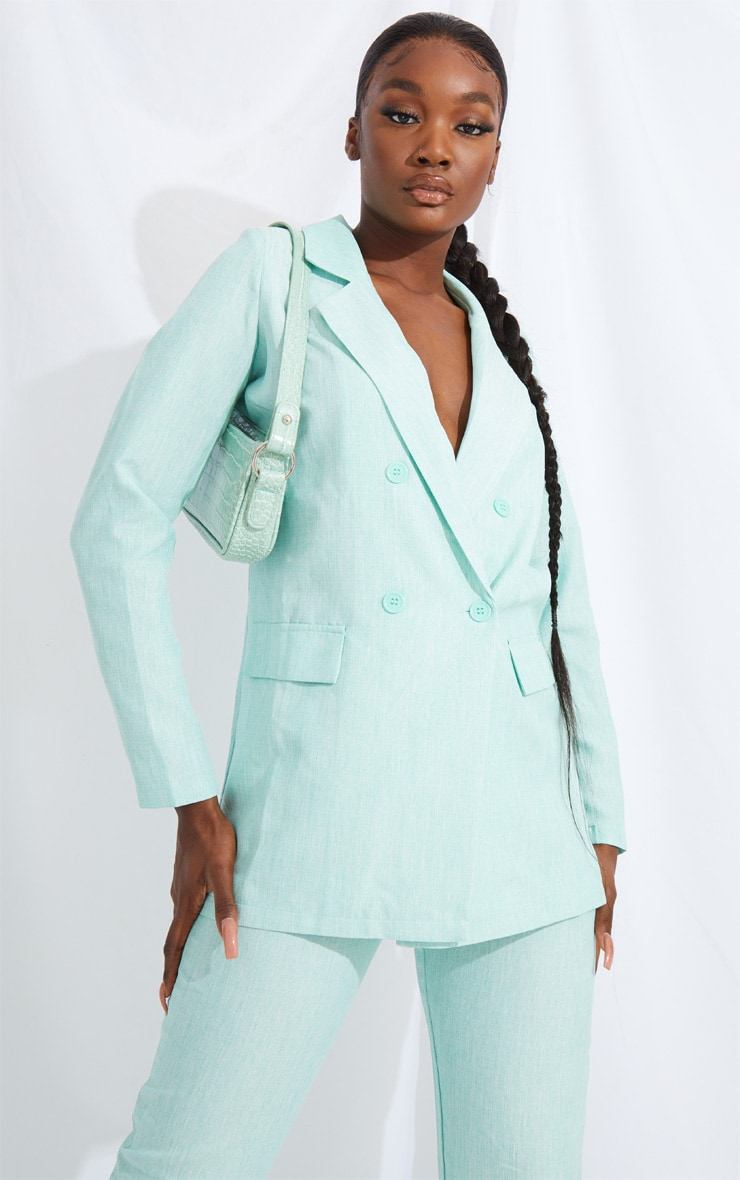 Tall Mint Oversized Boyfriend Blazer 1