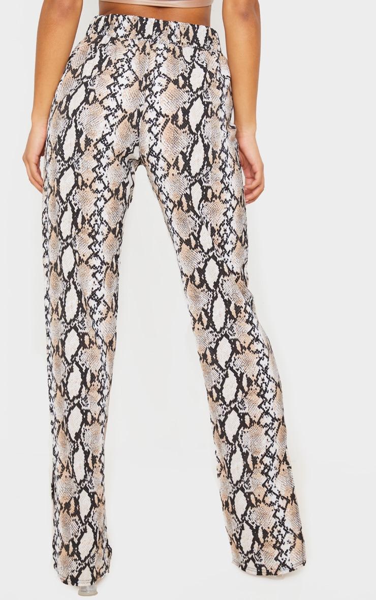 White Snake Straight Leg Split Hem Pants 4