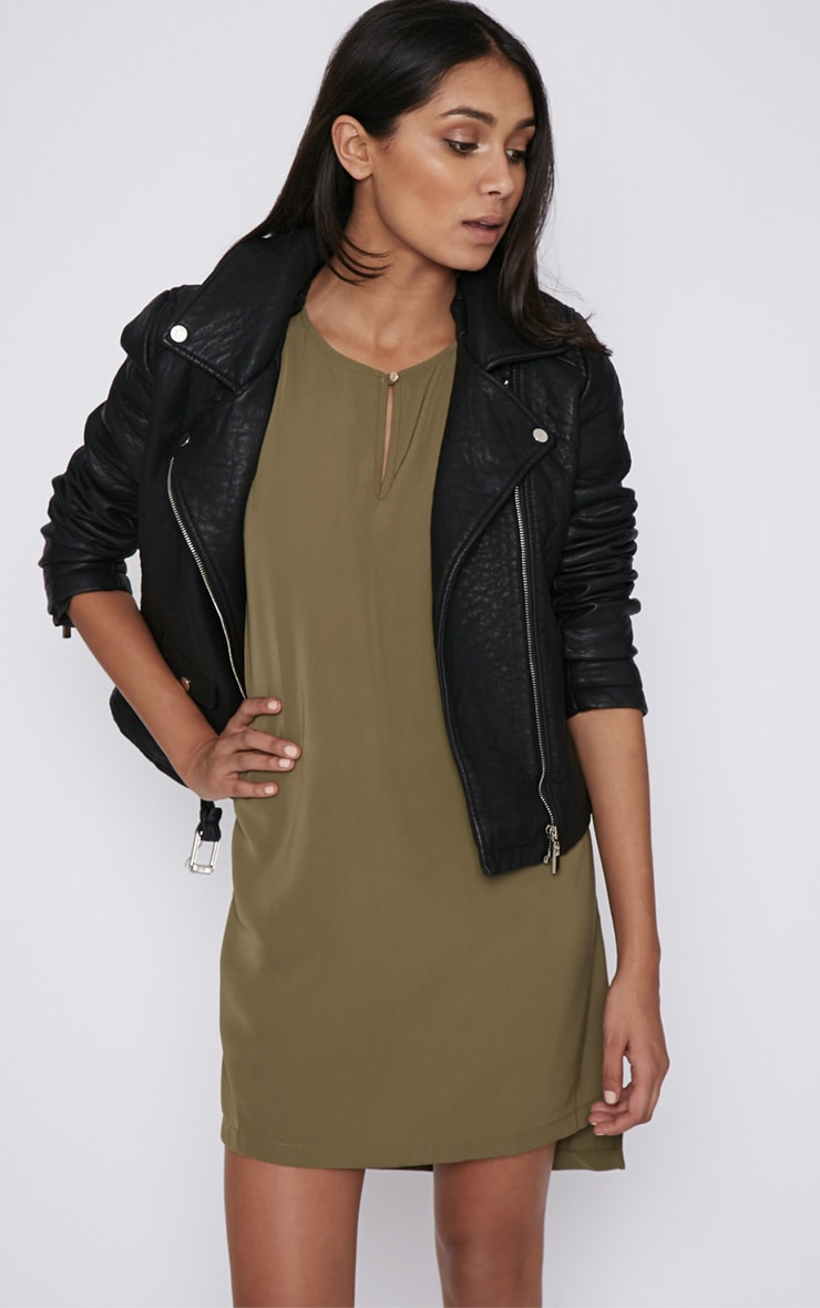Wilma Khaki Shift Dress 4