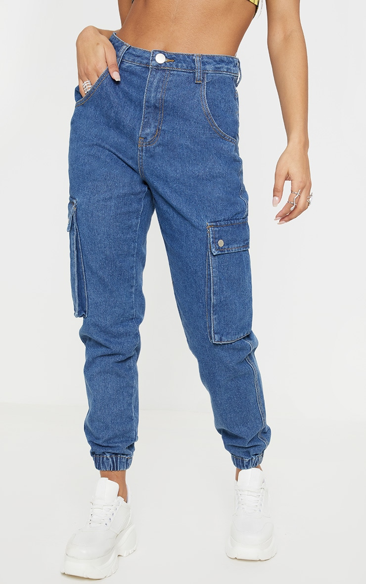 Mid Wash Cargo Pocket Jean  2
