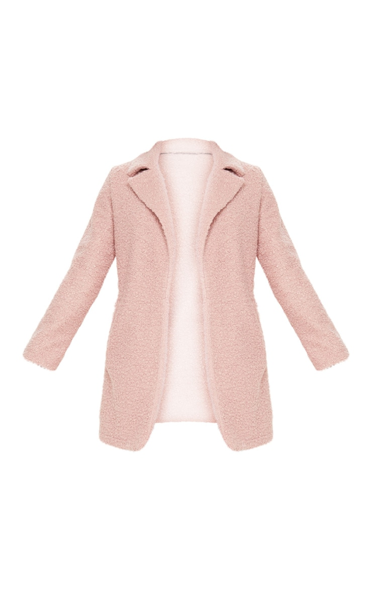Dusty Pink Textured Oversized Coat 3