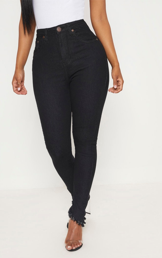 Shape Black High Waisted Skinny Jeans 4