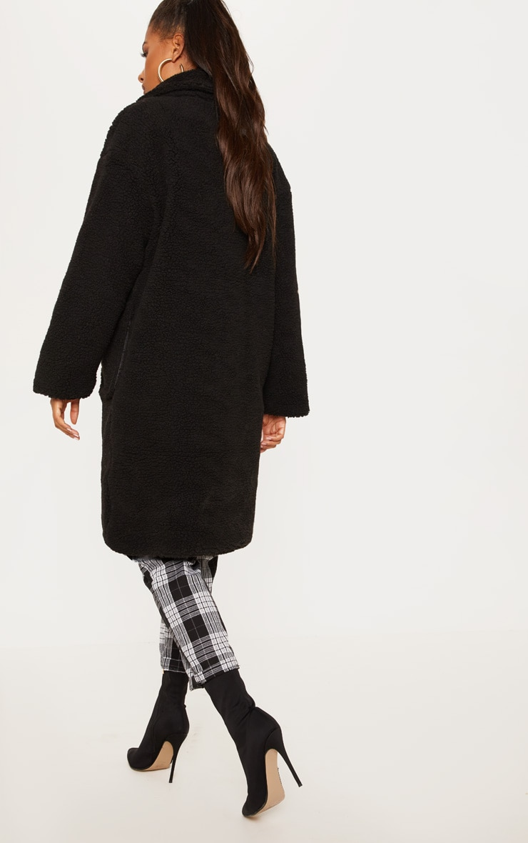 Black Borg Longline Coat  2