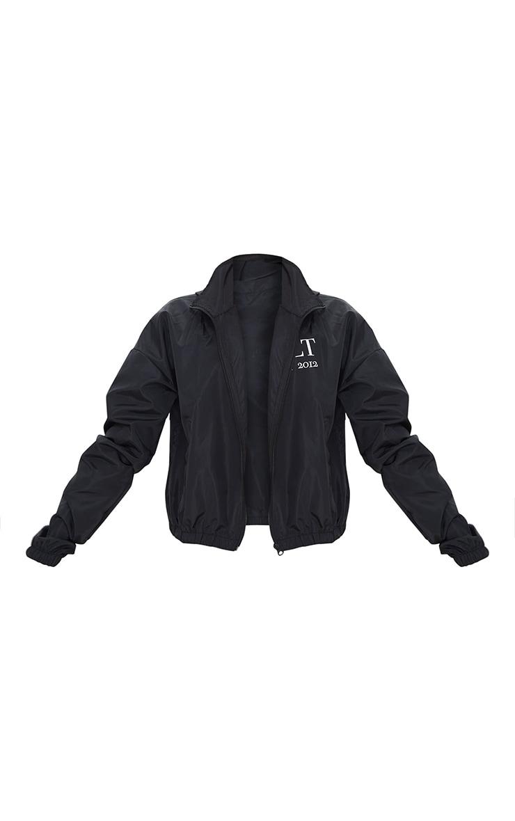 PRETTYLITTLETHING Black Hooded Oversized Shell Jacket 5