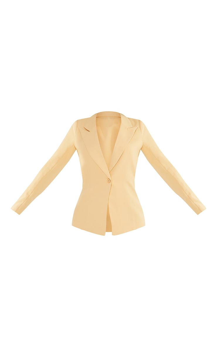 Petite Cream Single Breasted Oversized Blazer 5